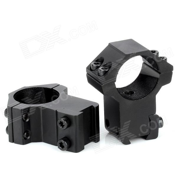 AJ25-10 Aluminum Alloy 25.4mm Double Screw Gun Clip Mount - Black (2 PCS)