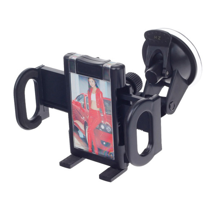 4.3 / 5.5Universal Car Suction Cup Mount Holder for Cell PHone, GPS - BlackGPS Holders<br>MaterialEngineeringForm  ColorBlackApplicable ProductsUniversal,Cellphone,GPS,MP3,PDA,MP4,OthersCombinationOthersAdjustable Height7Rotation360Max. Load3Other FeaturesThePacking List1 x Suction cup holder1 x Back clip<br>