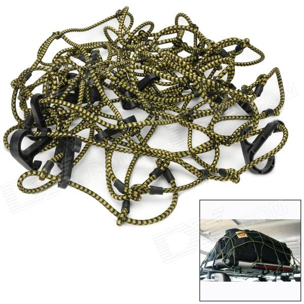 Elastic Stretchy Rubber Rope Cargo / Luggage Organizer Fixing Net w/ Hooks for Off-road Vehicle