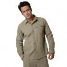 Naturehike-GS01-M-Outdoor-Quick-drying-Mens-Polyester-Shirt-w-Removable-Sleeves-Camel-(Size-XL)