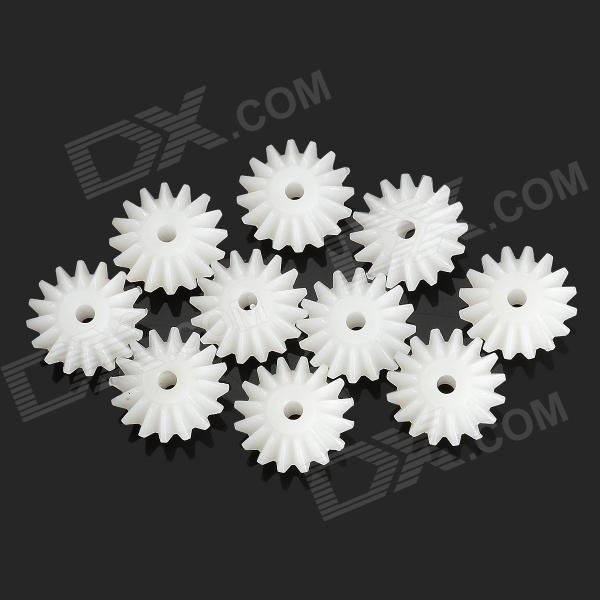 DIY Plastic Wheel Gear for Car Model - White (10PCS)Repair Parts and Tools<br>ModelSForm  ColorWhiteMaterialPlasticQuantity10Compatible ModelsDIYPacking List10 x Wheel gear<br>