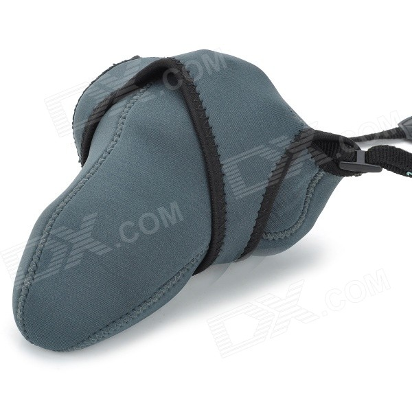 Buy Camera Protective Soft Bag Pouch for Canon, Sony + More - Black + Grey with Litecoins with Free Shipping on Gipsybee.com