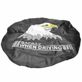 Eagle-Head-Pattern-16-Thicken-PVC-Artificial-Leather-Cover-for-Car-Spare-Tire-Black-2b-White
