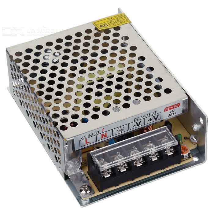 AC to DC 5A 60W Power Supply for LED Light - Silver
