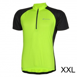 NUCKILY-Bike-Riding-Cycling-Short-Sleeves-Jersey-for-Men-Fluorescent-Green-2b-Black-(Size-XXL)