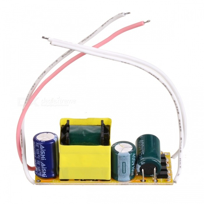 GZXTY08 27W Constant Current Source Power Supply Driver - Black + Yellow + White (180~265V)LED Power Drivers<br>ModelGZXTY08MaterialFR4Form  ColorWhiteQuantity1Water-proofNoPacking List1 x LED driver<br>