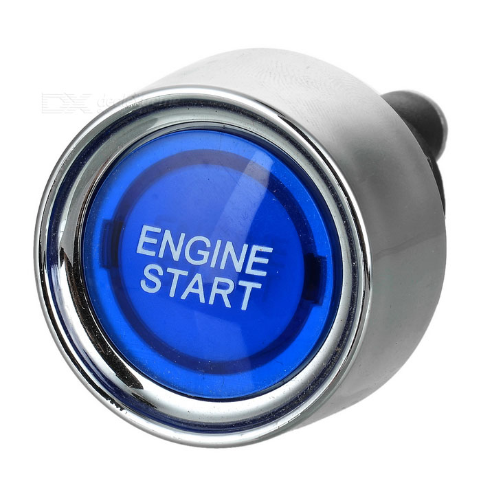 Buy Blue Light Push Start Ignition Switch for Racing Sport (DC 12V) with Litecoins with Free Shipping on Gipsybee.com