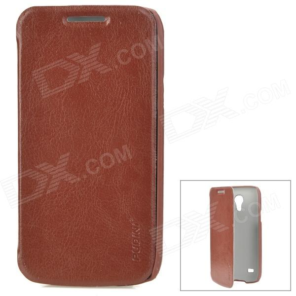 Pudini LXI9190M Protective PU Leather Flip-Open Case for Samsung Galaxy S4 Mini / i9190 - Brown