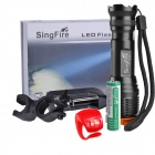 SingFire SF-85 800lm 5-Mode White Zooming Flashlight w/ Cree XM-L T6 - Black + Golden (1x18650)