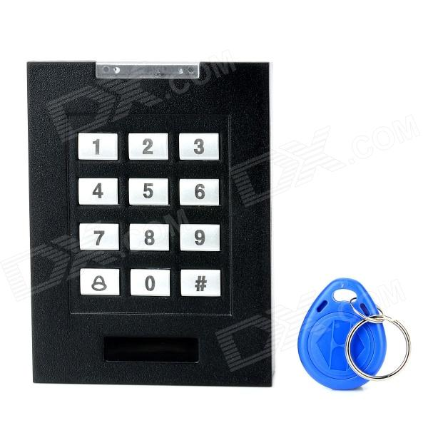 ID-230 RFID Card Access Control w/ KeysDoorbells<br>ModelIDForm  ColorBlackMaterialABSQuantity1Power SupplyOthersPower AdapterOthersTransmission MethodID cardPacking List1 x RFID card access control3 x Connection cables3 x Screws1 x English manual<br>