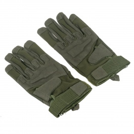 Stylish-Outdoor-Full-Finger-Gloves-Army-Green-(-Size-XL-Pair)
