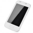 "7080 Android 2.3.5 GSM Bar Phone w/ 4.0"" Capacitive Screen, Wi-Fi and Quad-Band - White + Silver"