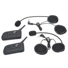 Waterproof Bluetooth 1-to-5 Walkie Talkie Motorcycle Helmet Speaker and Microphone System (Pair)