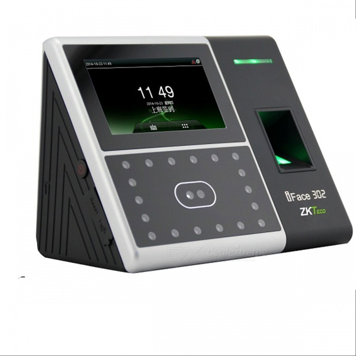 ZKSoftware iface302 4.3 LCD Fingerprint Facial Recognition Time Attendance Machine (400/2000-User)Doorbells<br>Modeliface302Form  ColorBlackMaterialPlasticQuantity1Voice DecibelsNoPower AdaptorYesPower SupplyOthersBattery included or notYesPower AdapterOthersTransmission MethodFingerprintIR Night VisionYesCamera:CertificationCEPacking List1 x Times attendance machine1 x Power adapter (100~240V)1 x Paper ruler1 x Pack installation screws1 x Stylus1 x Screwdriver1 x 3-Flat-Pin power cable (130cm)1 x Resistance needle4 x Cable connection terminals4 x English CD1 x Chinese user manual1 x Chinese National Joint Guarantee Address1 x Chinese tip about face1 x Chinese notes1 x Chinese packing list1 x Chinese Environmental statement1 x Installation fixed position map<br>