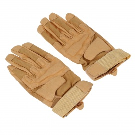 Stylish-Outdoor-Full-Finger-Gloves-Mud-Color-(Size-XL-Pair)