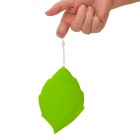 Travel Leaf Shaped Silicone Cup - Green