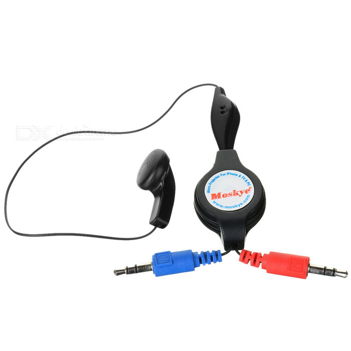 Retractable 3.5mm Earphone with Microphone (104cm-Length)