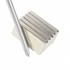 10050032W Strong Rare Earth Block NdFeB Magnet - Silver (5PCS)