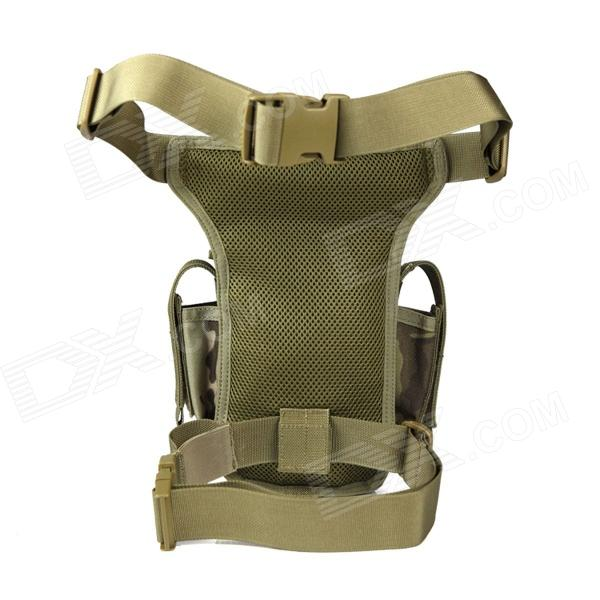 f60e37e0a8af ... FREE SOLDIER YTB216 Multifunction Outdoor Sport Nylon Waist   Leg Bag -  Mud Color (6L ...