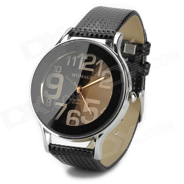 Buy Soft PU Leather Band Analog Quartz Wrist Watch for Women - Black with Litecoins with Free Shipping on Gipsybee.com