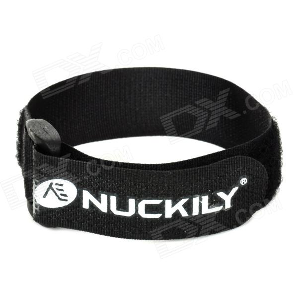 NUCKILY Adjustable Velcro Fixing Band / Strap for Bicycle Pump - BlackBike Accessories<br>ModelH649Quantity1Form  ColorBlackMaterialNylonWaterproofNoBest UseMultisportPacking List1 x Fixing band<br>