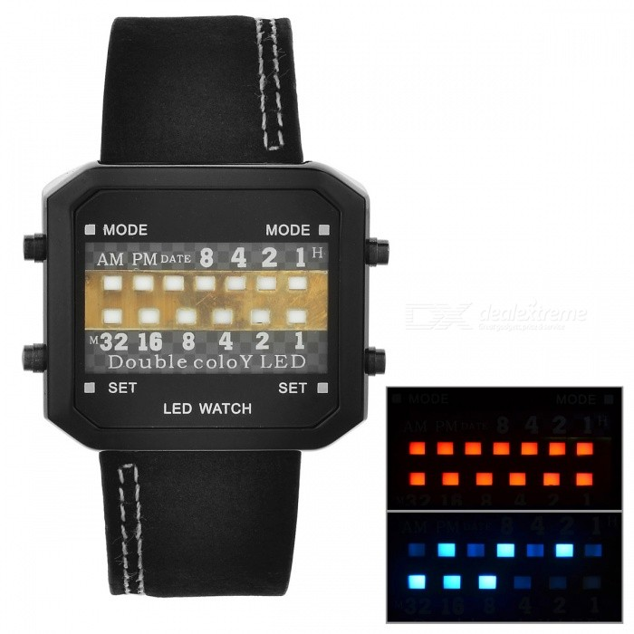13-LED Binary Date Time Wrist Watch (1 CR2032) - Free Shipping - DealExtreme b9125a4214