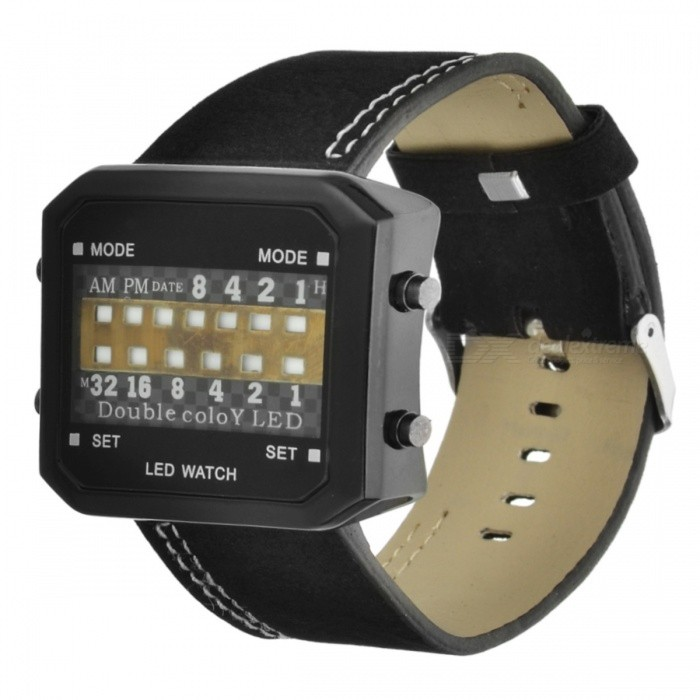 13-LED Binary Date Time Wrist Watch (1 CR2032) - Free Shipping ... 65a08b7ee6