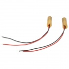 8.8 x 26APC 650nm 2.5mW Red Laser Module - Golden (2 PCS)