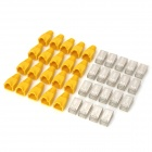 Red RJ45 Conectores Cable + Protective Cap amarillo Heads Set (20 PCS)