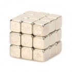 5 x 5 x 5mm Buckyballs NdFeB Magnetic Magic Cubes - Silver (27 PCS)