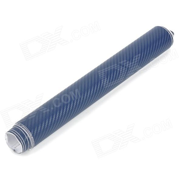 Buy Car Decorative 3D Carbon Fiber PVC Sticker - Steel Blue (30 x 127cm) with Litecoins with Free Shipping on Gipsybee.com