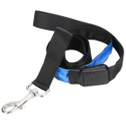Light Blue Mode Four LED intermitente correa del perro del gato - Azul + Negro (1 x CR2032 / 120 cm de longitud)