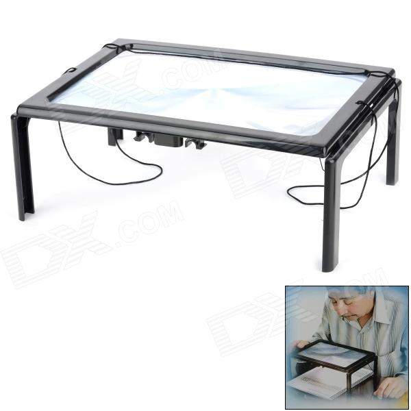 Buy Hands Free Desktop Magnifier w/ LED Lamp for the Elderly - Black (2 x AAA) with Litecoins with Free Shipping on Gipsybee.com