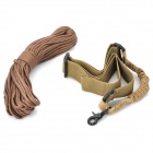 Single Rifle Sling Rope + Survival Parachute Cord - Khaki (130cm / 30m)