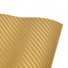 Car 3D PVC Carbon Fiber Decoration Sticker - Deep Golden (30 x 127cm)