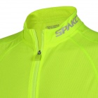Spakct elegante Ciclismo mangas Jersey T-shirt - Fluorescencia verde (L)