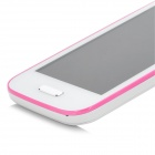 "BML 9500 Android 4.1 GSM Smart Phone w/ 4.0"" Capacitive Screen, Wi-Fi and Quad-Band - White + Pink"