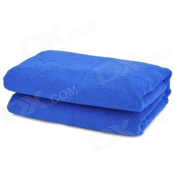 Soft Thickened Microfiber Bath Towel - Blue