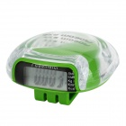 "Multifunctional 0.8"" LCD Clip On Sports Pedometer Step Counter - Green (1 x AG13)"