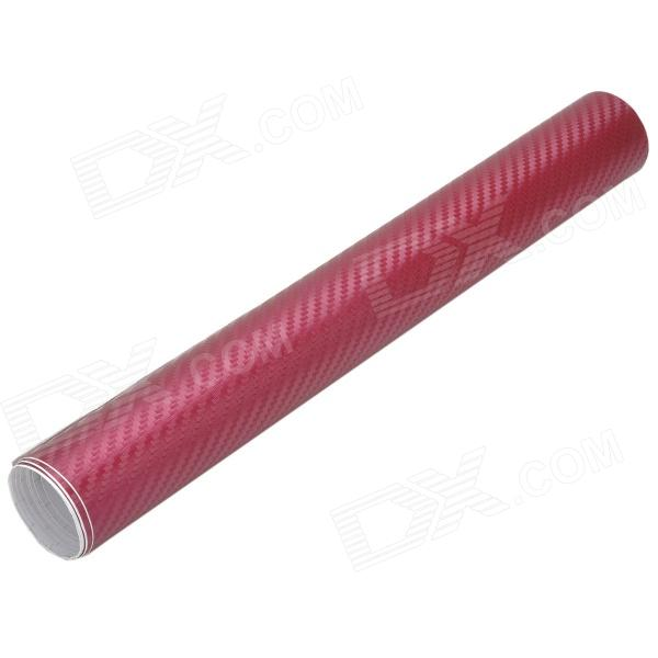 Buy 3D Car Decorative Carbon Fiber Sticker - Wine Red (30 x 127CM) with Litecoins with Free Shipping on Gipsybee.com