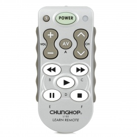 CHUNGHOP L102 Single 11-Key Learning IR Remote Control - Silver+White
