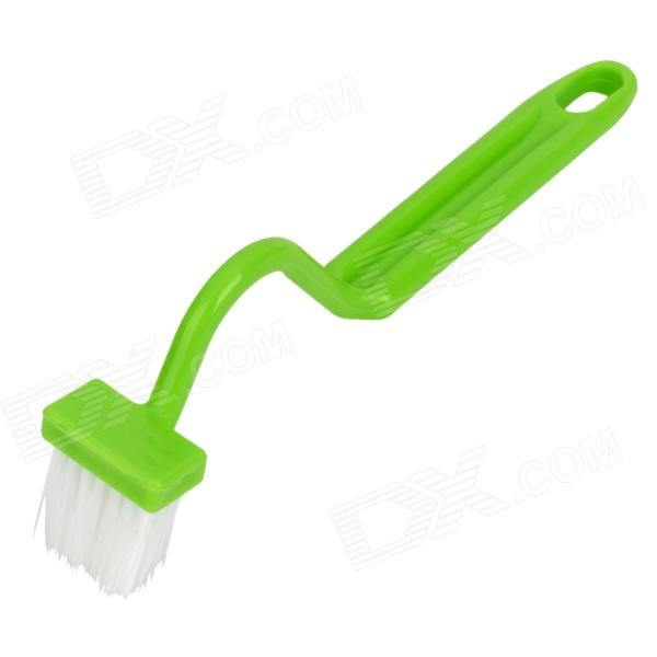 Buy 2233 Novel S Shape Plastic Toilet Edge Brush - Green with Litecoins with Free Shipping on Gipsybee.com