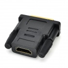 DVI 24+1M to HDMI Female Gold Plated Adapter - Black
