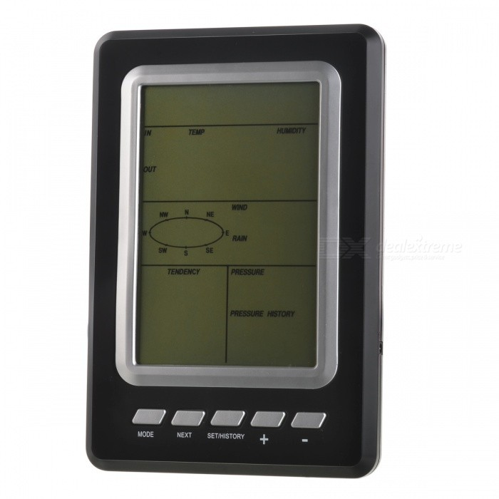 Buy WS1030 ABS Professional Wireless Household Weather Station Set - Black with Litecoins with Free Shipping on Gipsybee.com
