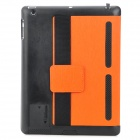 Multi-Funktions-PU-Leder Etui / Vent Holes / Sound-Verstärker für Ipad 3/4 - Orange