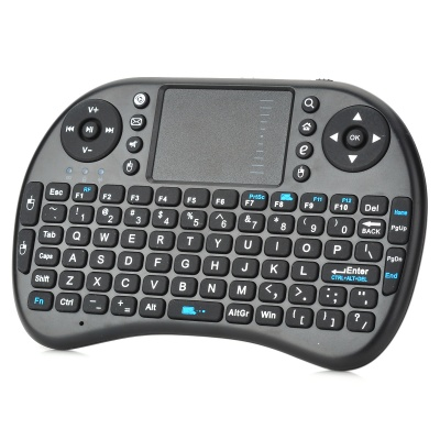 iPazzport Wireless 2.4GHz 92-Key Keyboard for Google TV Player - Black