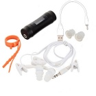 "T-08 0.9"" OLED Swimming Diving Waterproof MP3 Player w/ FM Radio + Earphone - Black (8GB)"