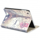 Eiffel Tower Pattern Protective PU Leather Case w/ Stand for Ipad MINI - Multicolored
