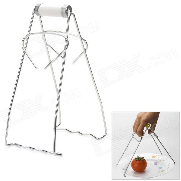 Multifunction Stainless  Steel Hot Dishes Carrying Lifting Clamp - Silver
