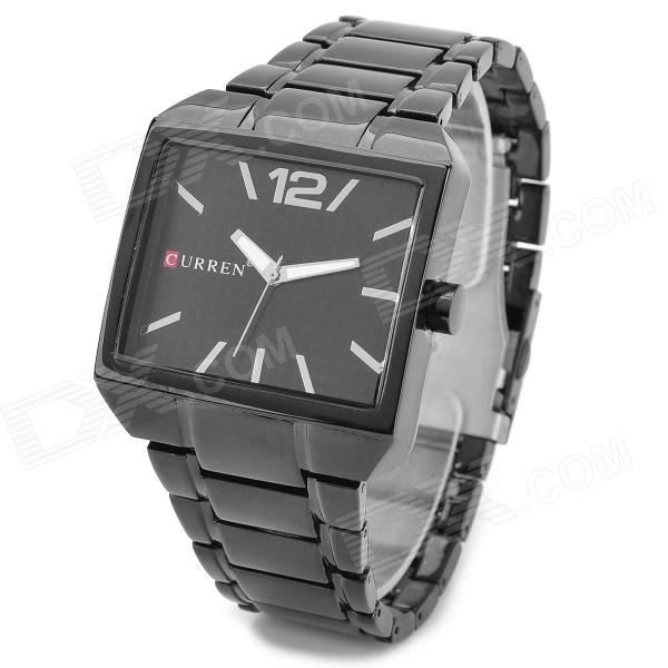 Buy CURREN 8132 Water Resistant Electroplating Tungsten Steel Band Quartz Wrist Watch - Black (1 x 626) with Litecoins with Free Shipping on Gipsybee.com